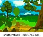 sloppy abstract summer... | Shutterstock .eps vector #2010767531