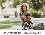 An Attractive Young Woman With...