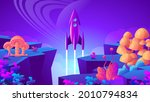colorful rocket takes off from... | Shutterstock .eps vector #2010794834