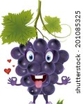 grapes with heart | Shutterstock .eps vector #201085325