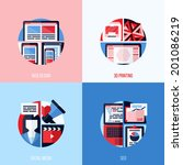 modern flat vector icons of web ...