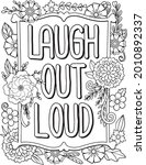 laugh out loud font with flower ...   Shutterstock .eps vector #2010892337