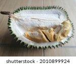 An Opened Durian Fruit.  Durian ...