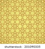 gold tulip blossom and spiral...   Shutterstock .eps vector #201090335