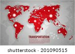 World transportation and logistics  - stock vector