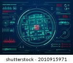 hud security monitoring system... | Shutterstock .eps vector #2010915971