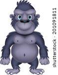 gorilla cartoon | Shutterstock .eps vector #201091811