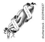 ginseng logo with banner hand... | Shutterstock .eps vector #2010940637