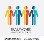 teamwork design over white... | Shutterstock .eps vector #201097901