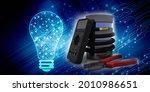3d rendering fiber optical... | Shutterstock . vector #2010986651
