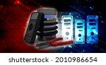 3d rendering fiber optical... | Shutterstock . vector #2010986654
