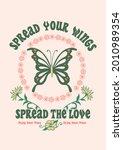 fully editable butterfly slogan ...   Shutterstock .eps vector #2010989354