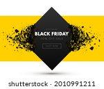 black friday sale banner. sale... | Shutterstock .eps vector #2010991211