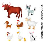 farm animal collection set | Shutterstock . vector #201099815