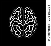 brain icon concept. | Shutterstock .eps vector #201101315
