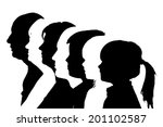 vector silhouettes family in... | Shutterstock .eps vector #201102587