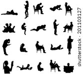 Vector Silhouettes Of People...