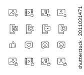 social media interaction icons. ...   Shutterstock .eps vector #2011031471