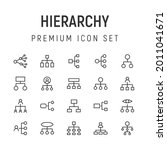 premium pack of hierarchy line...
