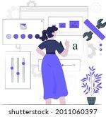 advance customization setting...   Shutterstock .eps vector #2011060397