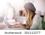 portrait of student girl... | Shutterstock . vector #201112277