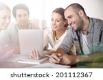 business people working on... | Shutterstock . vector #201112367