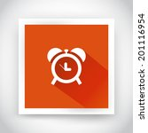 icon of alarm clock for web and ...