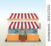 illustration of a barber shop.... | Shutterstock .eps vector #201117221