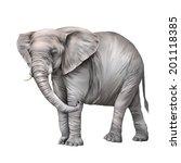 african elephant  loxodonta... | Shutterstock . vector #201118385