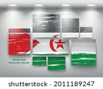 flag paint in gallery. vector... | Shutterstock .eps vector #2011189247