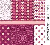 vector set of seamless romantic ... | Shutterstock .eps vector #201122441