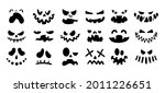 jack face. halloween scary... | Shutterstock .eps vector #2011226651
