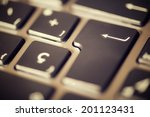 forefront of a gray laptop... | Shutterstock . vector #201123431