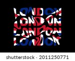 london typography text or... | Shutterstock .eps vector #2011250771