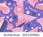 memphis seamless pattern.... | Shutterstock .eps vector #2011259681