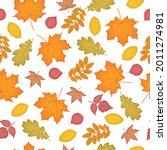 a bright autumn seamless... | Shutterstock .eps vector #2011274981