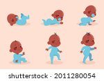 stages of a baby. process stage....   Shutterstock .eps vector #2011280054