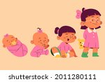 stages of a baby. process stage....   Shutterstock .eps vector #2011280111