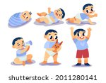 stages of a baby. process stage....   Shutterstock .eps vector #2011280141
