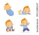 stages of a baby. process stage....   Shutterstock .eps vector #2011280147