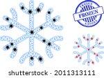 mesh polygonal snowflake icons... | Shutterstock .eps vector #2011313111