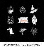 halloween scary collection... | Shutterstock .eps vector #2011349987