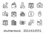 business icons set. included...   Shutterstock .eps vector #2011413551