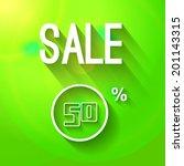 sale green background 50... | Shutterstock .eps vector #201143315
