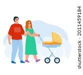 parents walking with kid... | Shutterstock .eps vector #2011459184