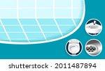 washing bathroom tool service...   Shutterstock .eps vector #2011487894