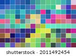 abstract mosaic with color... | Shutterstock .eps vector #2011492454