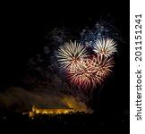 Small photo of Ignis brunensis 2014; The Epilogue closing fireworks; Flash Barrandov