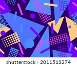 80s geometric seamless pattern... | Shutterstock .eps vector #2011513274