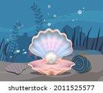 underwater ocean fauna with... | Shutterstock .eps vector #2011525577